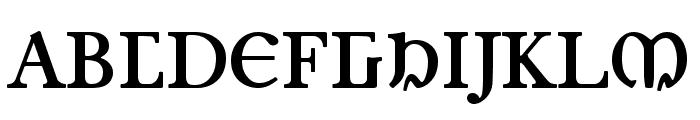 Junius Bold Font UPPERCASE