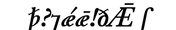 Junius BoldItalic Font OTHER CHARS