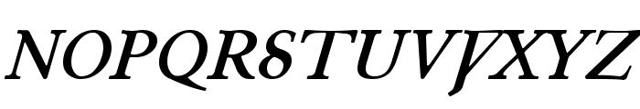 Junius BoldItalic Font UPPERCASE