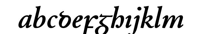 Junius BoldItalic Font LOWERCASE
