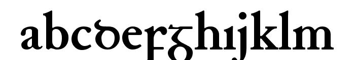 Junius Bold Font LOWERCASE