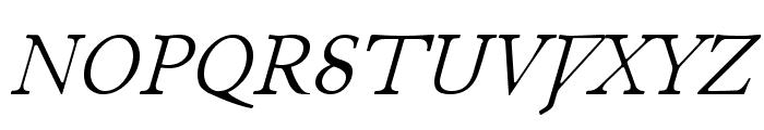 Junius Italic Font UPPERCASE