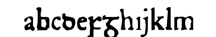 Junius Rough Font LOWERCASE