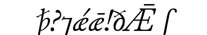 JuniusModern Italic Font OTHER CHARS