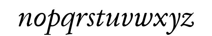 JuniusModern Italic Font LOWERCASE