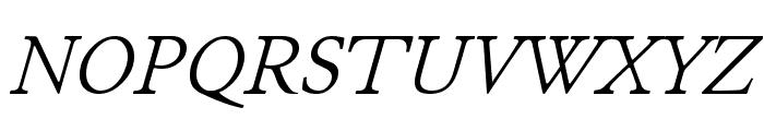 JuniusStandard Italic Font UPPERCASE