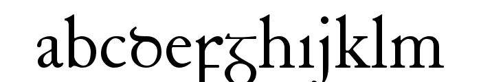 Junius Font LOWERCASE