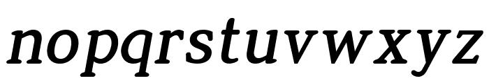 Jura Bold Italic Font LOWERCASE