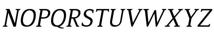 Jura Italic Font UPPERCASE