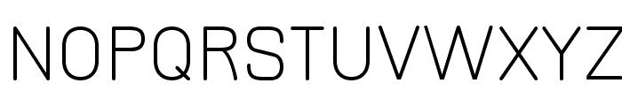 JuraLight Font UPPERCASE