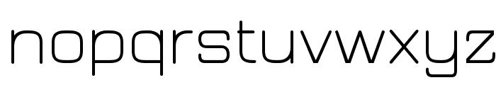 JuraLight Font LOWERCASE