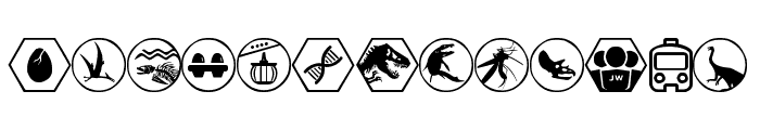 Jurassic World Font LOWERCASE