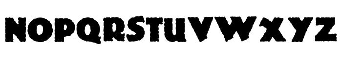 Jurassic Font UPPERCASE