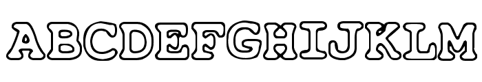 Just Another Courier Font UPPERCASE