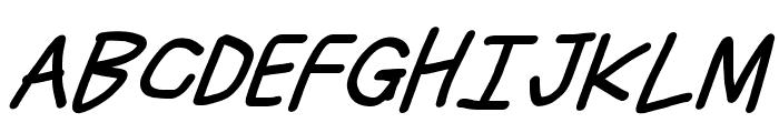 Just Breathe Bold ObliqueSeven Font UPPERCASE