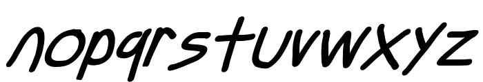 Just Breathe Bold ObliqueSeven Font LOWERCASE