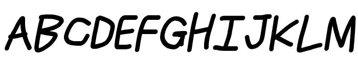 Just Breathe Bold ObliqueThree Font UPPERCASE