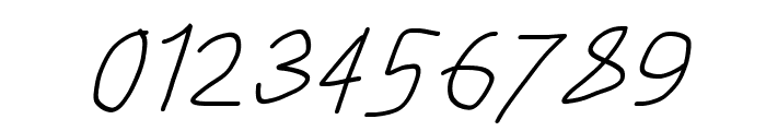 Just Breathe ObliqueFive Font OTHER CHARS