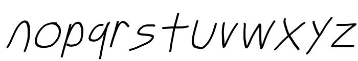 Just Breathe ObliqueFive Font LOWERCASE