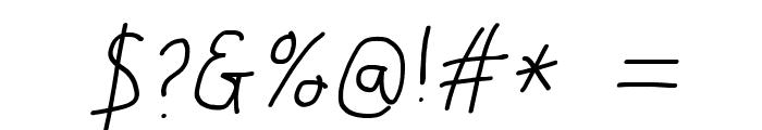 Just Breathe ObliqueFour Font OTHER CHARS