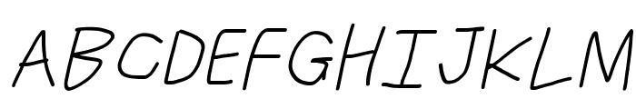 Just Breathe ObliqueFour Font UPPERCASE