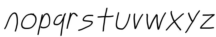 Just Breathe ObliqueFour Font LOWERCASE