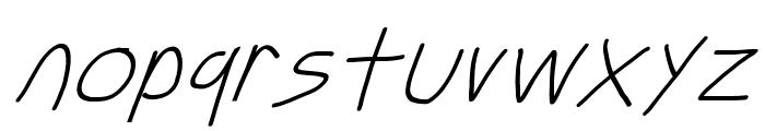 Just Breathe ObliqueSeven Font LOWERCASE