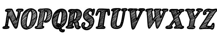 Just Mandrawn Italic Font UPPERCASE