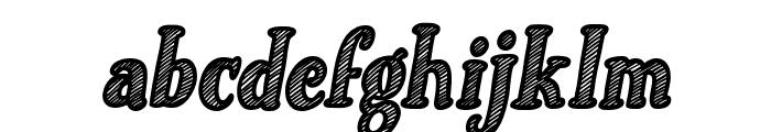 Just Mandrawn Italic Font LOWERCASE