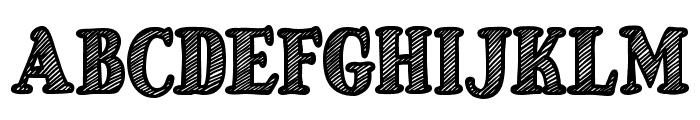 Just Mandrawn Font UPPERCASE
