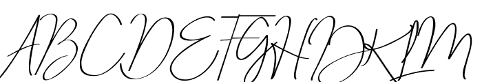 Just Signature Font UPPERCASE