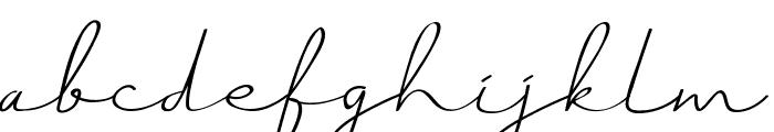 Just Signature Font LOWERCASE