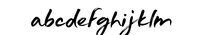 Just Wright Font LOWERCASE