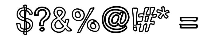 JustColesBlockOutlines Font OTHER CHARS