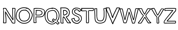 JustColesBlockOutlines Font UPPERCASE