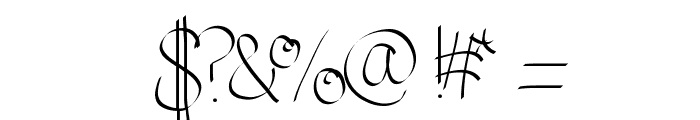 JustColesCursive Font OTHER CHARS