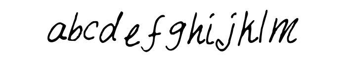 JustMai Font LOWERCASE