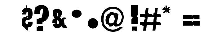 JustSmashing Fartzake Font OTHER CHARS