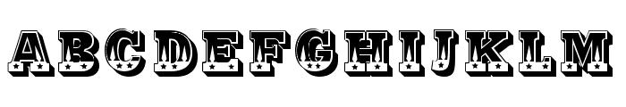 Justa Regular Font UPPERCASE