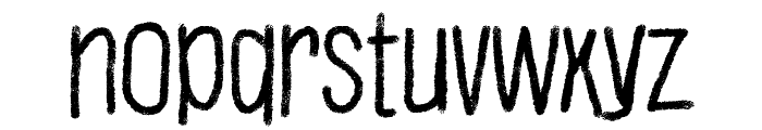 Justaword Font LOWERCASE