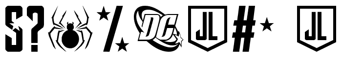Justice League Font OTHER CHARS