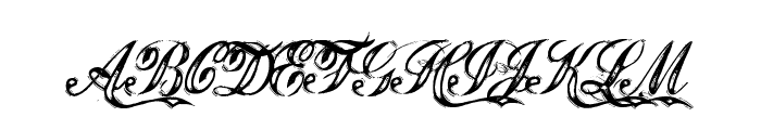 Justice by Dirt2 Font UPPERCASE