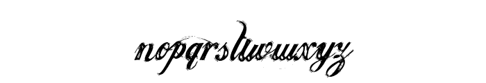 Justice by Dirt2 Font LOWERCASE