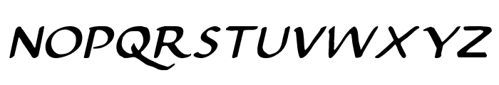 Justinian 2 Italic Font UPPERCASE