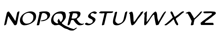 Justinian Italic Font UPPERCASE