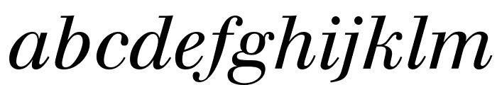 Justus Italic Font LOWERCASE