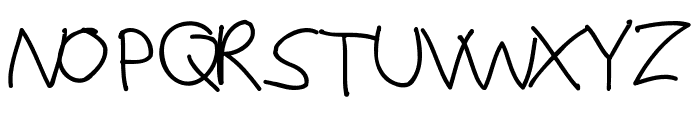 Justy1 Font UPPERCASE