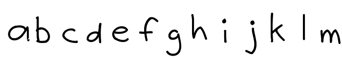 Justy1 Font LOWERCASE
