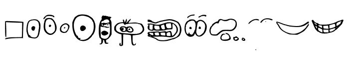 just symbols and stuff Medium Font UPPERCASE