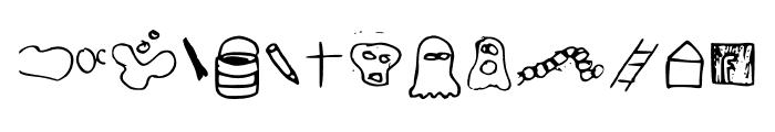 just symbols and stuff Medium Font LOWERCASE